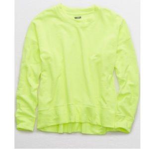 Aerie Beach Fleece in Neon Lemon